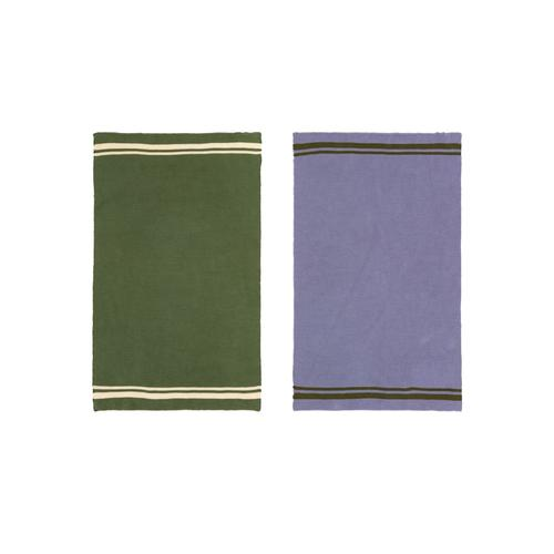Geschirrtuch-Set, 2-tlg. IMPRESSIONEN living grün/lila/creme