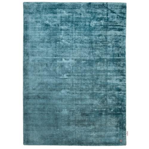 Handarbeitteppich Shine Uni Tom Tailor Blau
