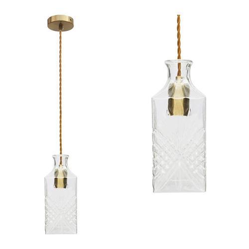 Pendelleuchte - Deckenlampe Kristall - Messing| Adler