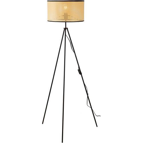 Nino Leuchten Stehlampe LU, E27, 1 St., Stehleuchte, Wiener Geflecht braun Standleuchten Stehleuchten Lampen