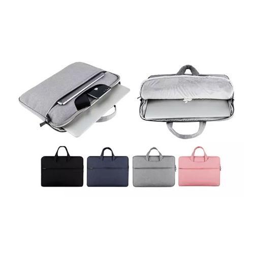Laptop-Tasche: Schwarz + Rosa/ 13