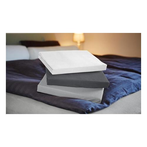 Jersey-Spannbettlaken: Hellgrau / 180-200 x 200 cm / 1