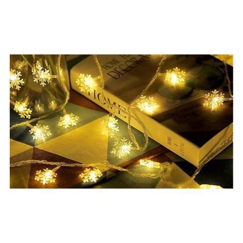 Weihnachts-Lichterkette: Schneeflocken/ 2
