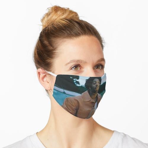 braune Lederjacke Maske