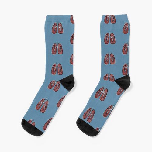 Beschriftete Lungen Socken