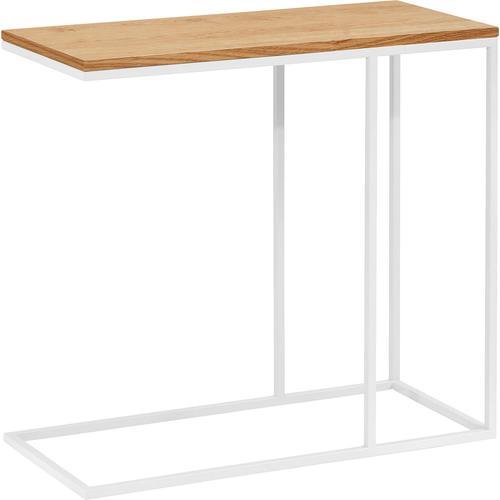 now by hülsta Beistelltisch CT 17, mit weißem Gestell, Höhe 65 cm weiß Beistelltische Tische