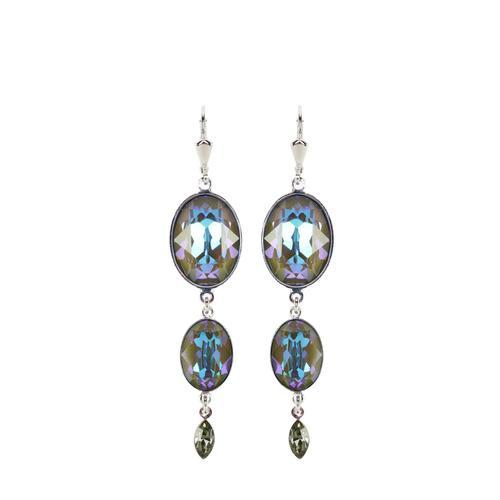 Mey & Edlich Damen Kristallohrringe blau onesize