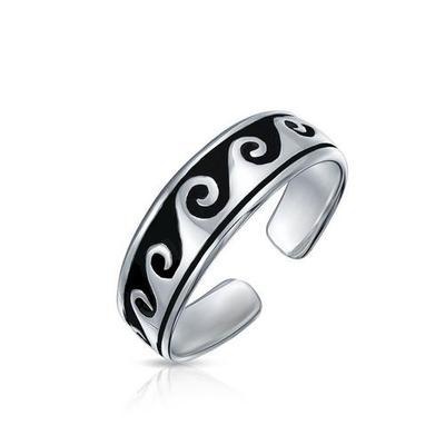 BLING Jewelry Ocean Waves Midi Toe Ring