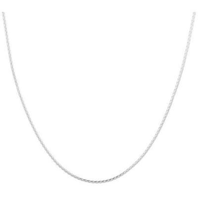 Pure 100 16 in. Silver Tone Wheat Chain Necklace