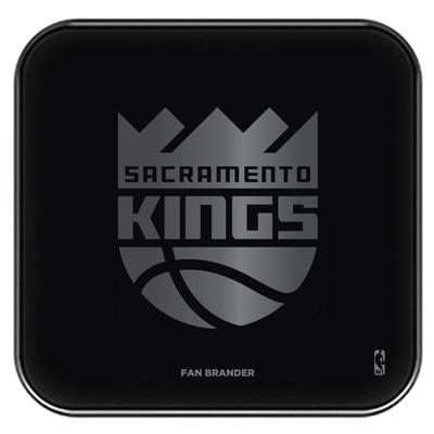"""Black Sacramento Kings Fast Charging Glass Wireless Charge Pad"""