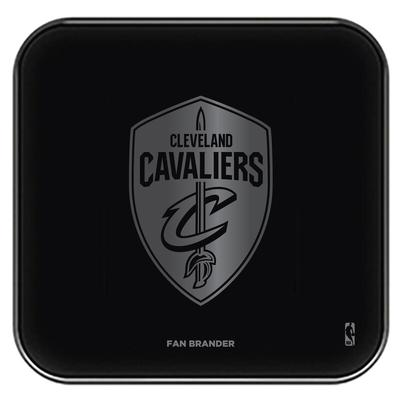 """Cleveland Cavaliers Black Fast Charging Glass Wireless Charge Pad"""