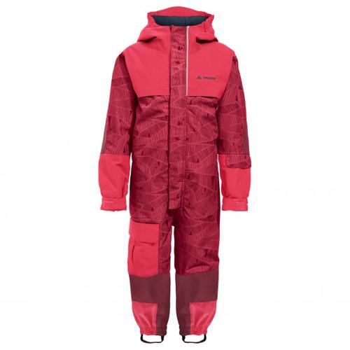 Vaude - Kid's Snow Cup Overall AOP - Overall Gr 92 rot/rosa