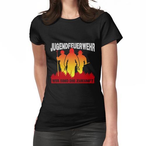 Jugendfeuerwehr FFW Lustiges Feuerwehr Geschenk Geburtstag Frauen T-Shirt
