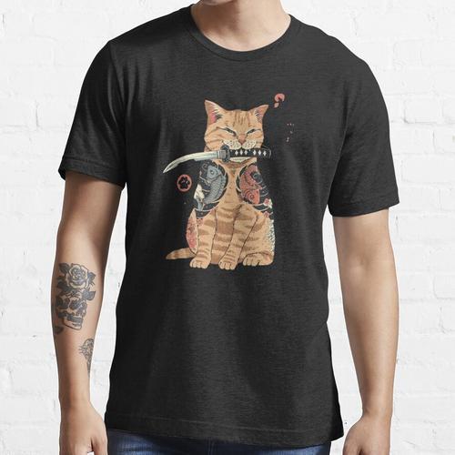 Anime Katze mit Messer Essential T-Shirt