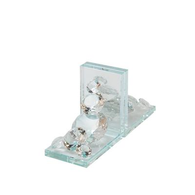 """ Crystal Diamond Bookends - Sagebrook Home 13196-02"""