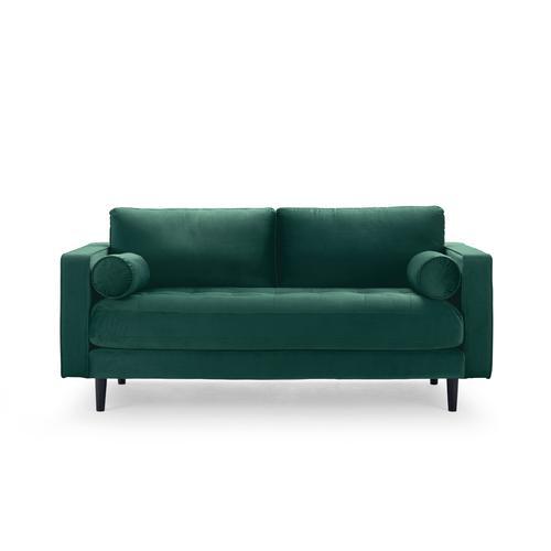 Sofa 2-Sitzer samt grün 184 cm Merini
