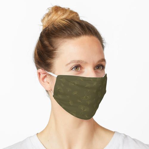 Madras Green und Luxor Gold Ginkgo Blätter Maske