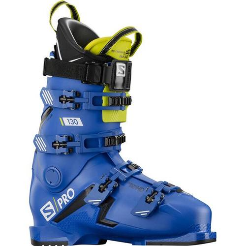 SALOMON Herren Skischuhe S/PRO 130 Bootfitter Friendly, Größe 29/29,5 in RACE BLUE/BLACK/Acid Green