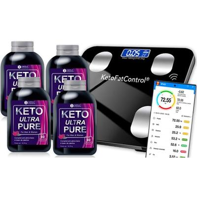 Keto Ultra Pure 4 mois (240 gélules) avec sa balance connectée offerte