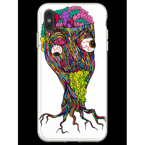 Nikotinfarbe Flexible Hülle für iPhone XS Max