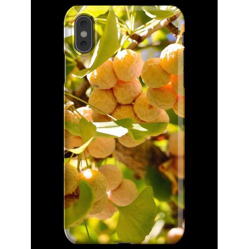 Ginkgobaum mit Obst iPhone XS Max Handyhülle