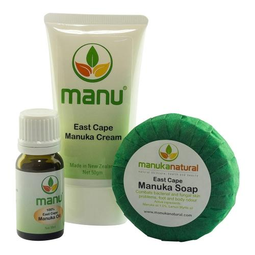 Manuka Naturals Fuß- & Nagelpilz Combo - Seife, Pure East Cape Manukaöl und Creme