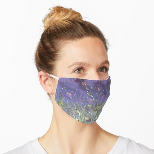 Musterwiese Lila Maske