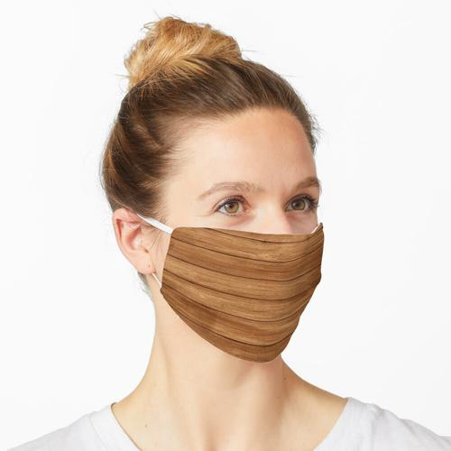 Brauner Holzboden Maske