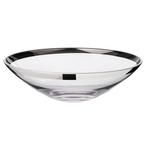 EDZARD Schale Cora, Kristallglas mit Platinrand farblos Schalen Geschirr, Porzellan Tischaccessoires Haushaltswaren