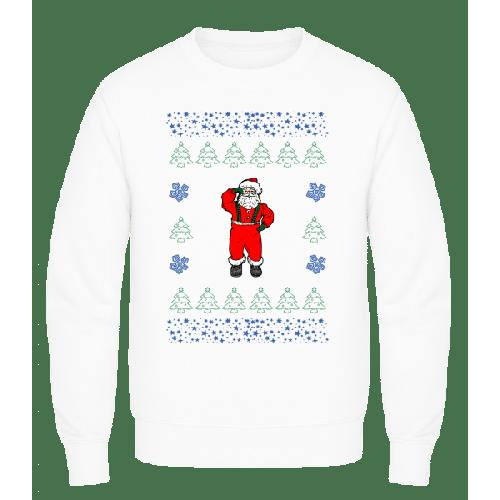 Weihnachtsmann Strickmuster - Männer Pullover AWDis