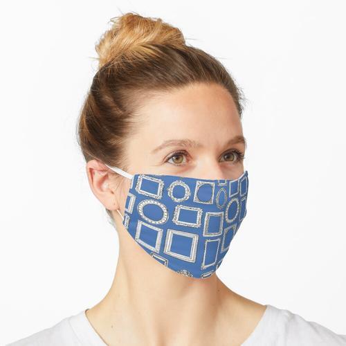 Bilderrahmen blau Maske