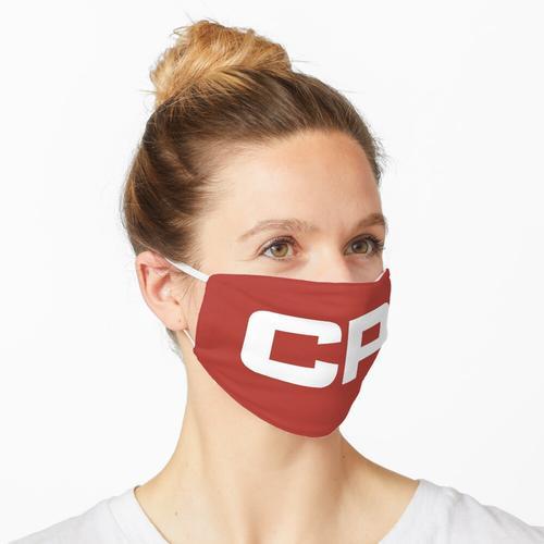 Kanadisches pazifisches Eisenbahn-Blockbuchstaben-Logo Maske