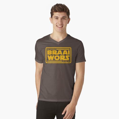 Braai Force - Braai Wors! (Gelb) t-shirt:vneck