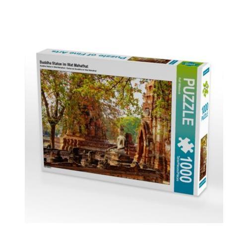 Buddha Statue im Wat Mahathat Foto-Puzzle Bild von Ralf Wittstock Puzzle