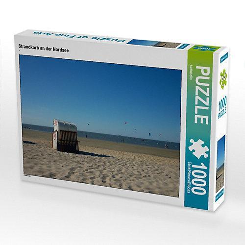 Strandkorb an der Nordsee Foto-Puzzle Bild von Kattobello Puzzle