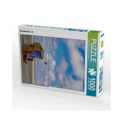 Strandkorb No. 32 Foto-Puzzle Bild von Angela Dölling, AD DESIGN Photo + PhotoArt Puzzle