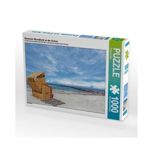 Einsamer Strandkorb an der Ostsee Foto-Puzzle Bild von www.fotografie-dehaan.de Puzzle