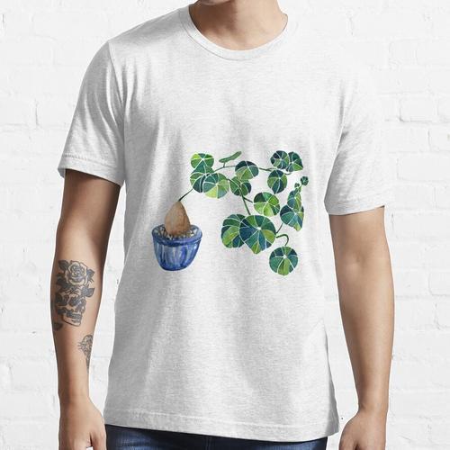 Aquarell Bonsai Pflanze / Stephania Erecta Kartoffelpflanze Essential T-Shirt