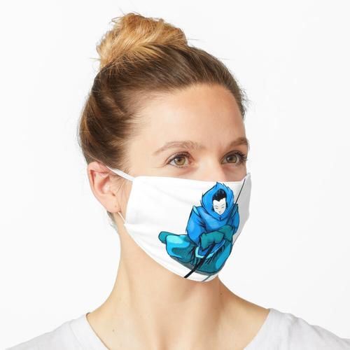 blaue Inuit Lady Maske