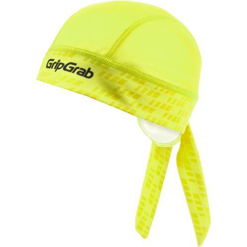 GripGrab Bandana Helmmütze in Yellow Hi-Vis, Größe Einheitsgröße