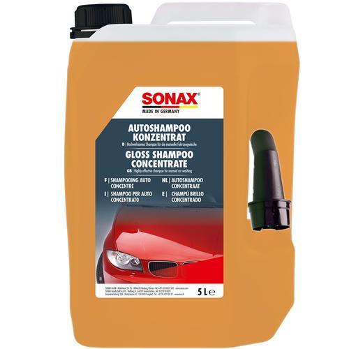 Sonax Autoshampoo Konzentrat 5l+ Waschhandschuh + Microfaser Poliertuch - Set