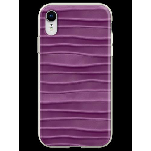 Lila, Seide, Satin, Stoff, Textur Flexible Hülle für iPhone XR