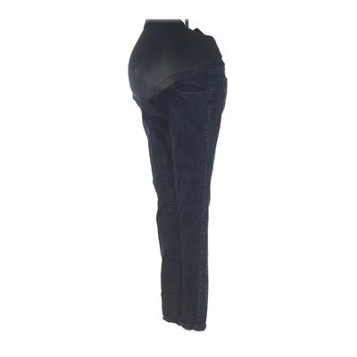 Indigo Blue Jeans - Super Low Rise: Blue Bottoms - Size Small Maternity