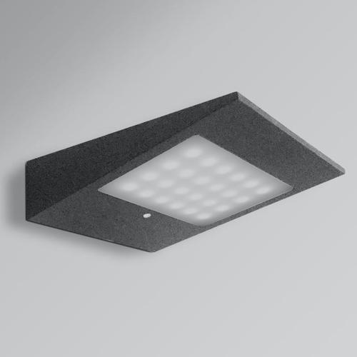 CMD 9019 Solar/AC LED Wandleuchte mit Bewegungsmelder B: 19 H: 4,6 T: 14 cm, anthrazit 9019, EEK: A+