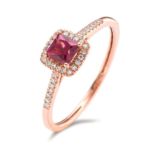 Fingerring 585/14 K Rotgold Rhodolith