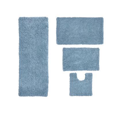 Fantasia 4-Pc. Bath Rug Set by Home Weavers Inc in Blue (Size 4 RUG SET)