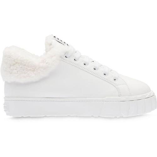 Miu Miu Sneakers mit Shearling-Futter
