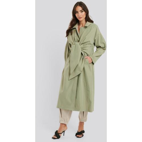NA-KD Trend Tie Front Trench Coat
