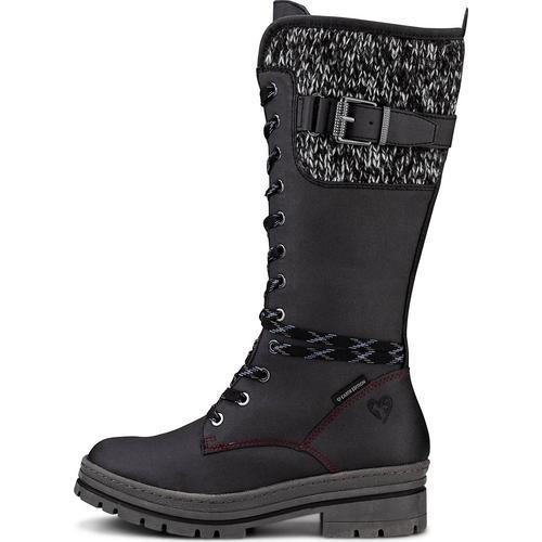 MARCO TOZZI Earth Edition, Sportliche Stiefel in schwarz, Stiefel für Damen Gr. 39