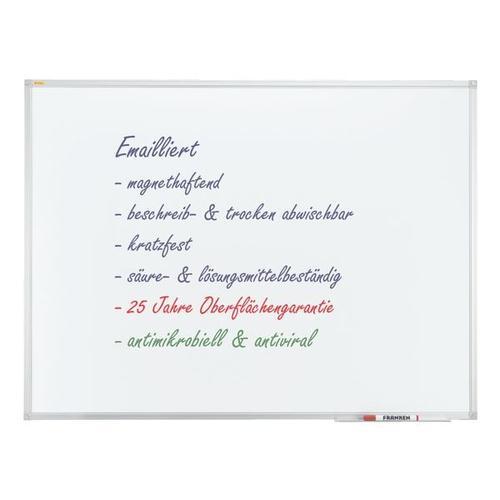Whiteboard »X-tra! Line«, emailliert, 90 x 60 cm, antimikrobiell weiß, Franken